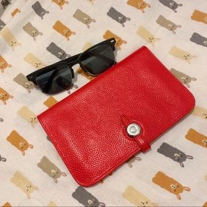 Red Leather Passport Wallet (sample)